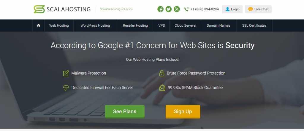 Scalahosting web hosting untuk wordpress murah