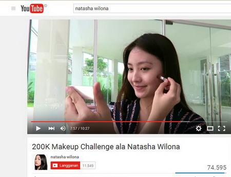 Natasha Wilona Jadi Beauty Blogger Vlogger