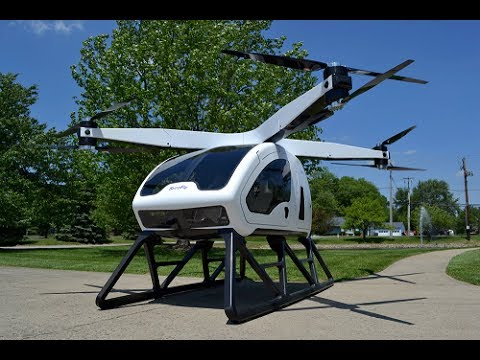 Personal hybrid electric octocopter
