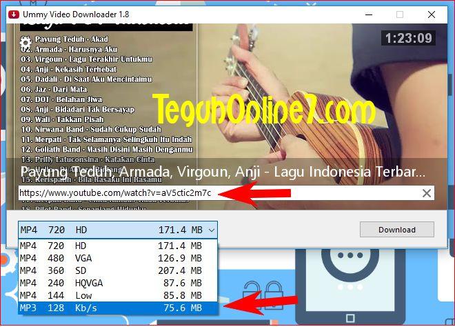 Cara Download Musik atau Lagu Youtube Format Mp3